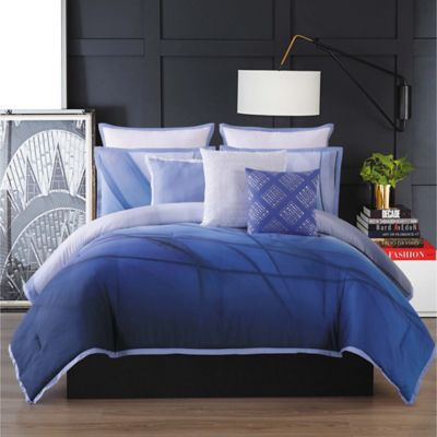 Buy Grey and Blue Comforter Set from Bed Bath Beyond