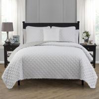 Avalon Full/Queen Quilt Set in White