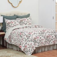 Blair Garden Reversible Full/Queen Quilt Set in Tan
