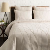 Surya Mio Embroidered King/California King Duvet Cover Set in Light Grey/Cream