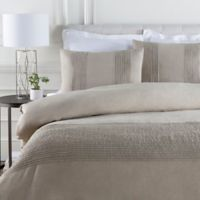 Surya Upton Twin Duvet Cover Set in Light Grey/Silver