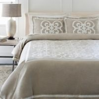 Surya Versaille King/California King Duvet Cover Set in Light Grey/Cream