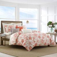 Nautica® Ripple Reversible Full/Queen Duvet Cover Set in Coral