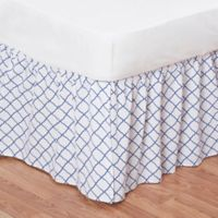 Sasha Twin Bed Skirt in Blue