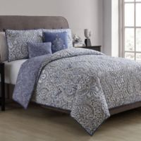 VCNY Home Jolie Paris Reversible King Comforter Set in Purple