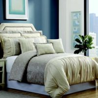 Pacific Coast® Textiles Jardin 8-Piece Queen Comforter Set in Beige