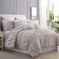 Pacific Coast™ Rialto 8-Piece Queen Comforter Set in Beige