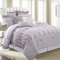 Pacific Coast Textiles Melrose 8-Piece Queen Comforter Set in Grey