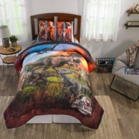 Universal Jurassic World Eruption 4-Piece Twin Comforter Set in Red