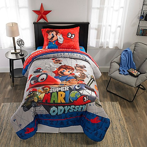 Image Of Nintendo Super Mario Odyssey Comforter Set
