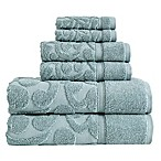 SALBAKOS Sculpted Jacquard 6-Piece Towel Set in Green