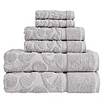 SALBAKOS Sculpted Jacquard 6-Piece Towel Set in Grey