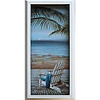 Walk on the Beach 10-Inch x 20-Inch Framed Wall Art
