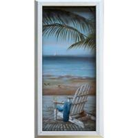 Walk on the Beach 10-Inch x 20-Inch Framed Wall Art