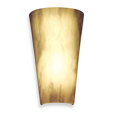 It s Exciting Lighting Battery Powered LED Wall Sconce in Stone - Bed Bath & Beyond