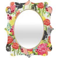 Deny Designs® Khristian A. Howell 29-Inch x 22-Inch Multicolor Oval Michella Quatrefoil Mirror