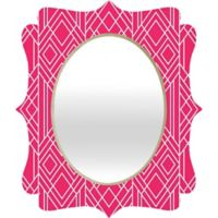 Deny Designs® Elisabeth Fredriksson 29-Inch x 22-Inch Oval Art Deco Mirror in Hot Pink