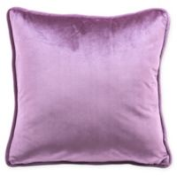 Zuo® Velvet Square Decorative Pillow in Purple