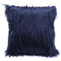 Zuo® Oceana Faux Fur Pillow in Blue
