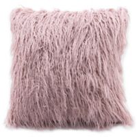 Zuo® Area Faux Fur Pillow in Dusty Pink