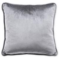 Velvet Square Decorative Pillow in Gray