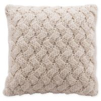 Irma Sweater Knit Square Decorative Pillow in Beige