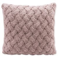 Irma Sweater Knit Square Decorative Pillow in Dusty Pink
