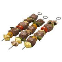 Bradshaw Good Cook 12-Inch Flat Metal Skewers (Set of 4)