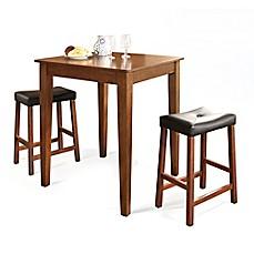 Crosley Tapered Leg Pub Dining Set With Saddle Stools 3