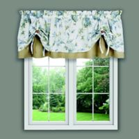 Abigail Tie-Up Valance in Porcelain Blue