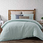 Brooklyn Loom Chambray Loft Full/Queen Comforter Set in Aqua