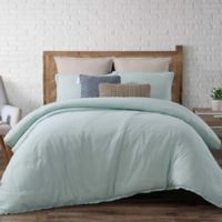 Brooklyn Loom Chambray Loft Twin XL Comforter Set in Aqua