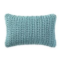Brooklyn Loom Chambray Loft Knit Oblong Throw Pillow