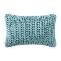 Brooklyn Loom Chambray Loft Knit Oblong Throw Pillow