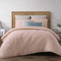 Brooklyn Loom Chambray Loft Full/Queen Comforter Set in Blush