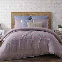 Brooklyn Loom Chambray Loft King Duvet Cover Set in Plum