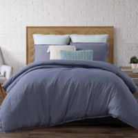 Brooklyn Loom Chambray Loft Full/Queen Comforter Set in Blue