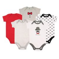 Hudson Baby® 18-24M 5-Pack Mustache Bodysuits