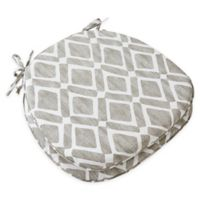 Madison Park Delray Diamond Chair Pads in Grey (Set of 2)