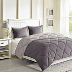 Madison Park Essentials Larkspur 3M Scotchgard Full/Queen Comforter Set in Charcoal Grey