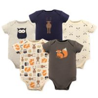 Hudson Baby® Size 18-24M 5-Pack Woodland Bodysuits in Beige
