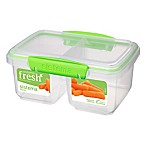Sistema® Fresh™ 4-Cup Medium Split Food Container in Green
