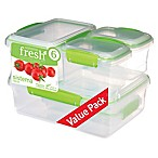 Sistema® Fresh™ 12-Piece Rectangular Food Container Set in Green