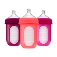 Boon NURSH™ 3-Pack 8 oz. Silicone Pouch Bottle in Pink