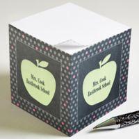 Teacher's Green Apple Paper Note Cube