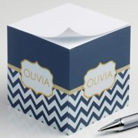 Preppy Chic Paper Note Cube