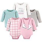Little Treasure™Size Ice Skates 5-Pack Long Sleeve Bodysuits
