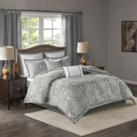 Madison Park Dora King/California King Duvet Cover Set in Silver
