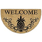 Design Imports Pineapple Welcome Slice Door Mat