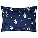Lullaby Bedding Away At Sea Boudoir Throw Pillow in Navy/White